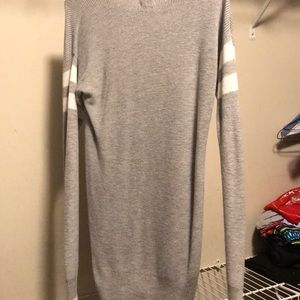 Hippie Rose Tops - Grey striped long sleeve sweater